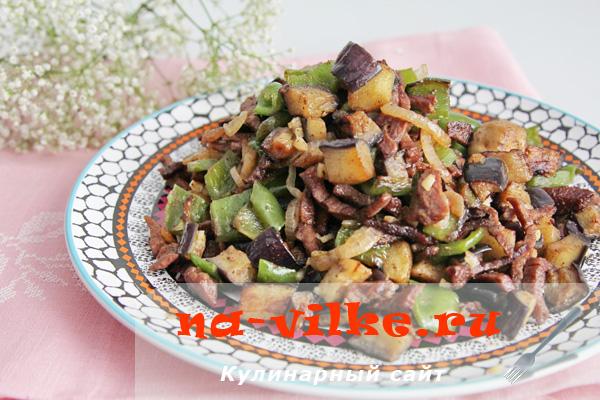 Говядина с овощами в воке