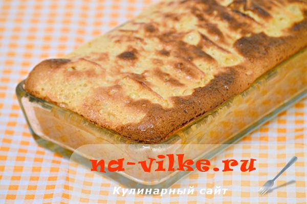 Заливной яблочный пирог «Нежный»
