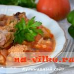 Аппетитный борщ с цветной капустой и мясом
