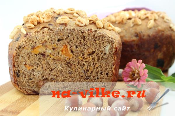 Хлеб заварной с сухофруктами и орехами