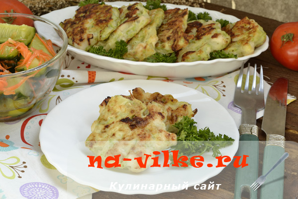 Котлеты из кабачков с куриным филе