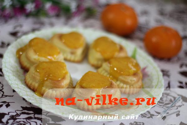 Мандариновое пирожное с мандариновым кремом