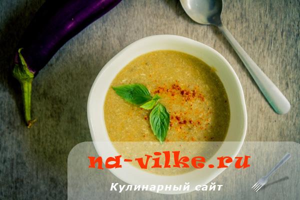 Суп-пюре с куриной грудкой и овощами