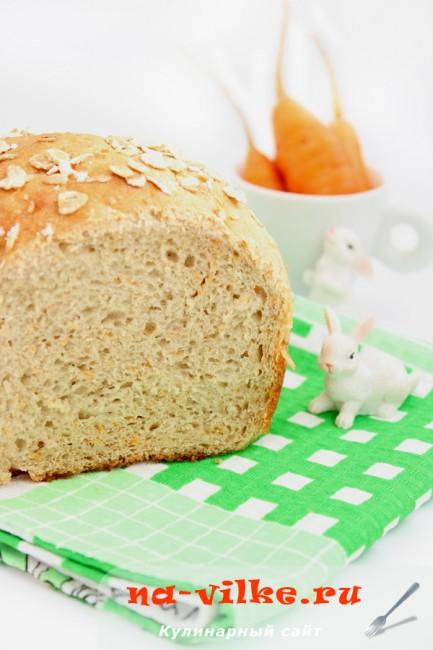 Хлеб заварной с морковью