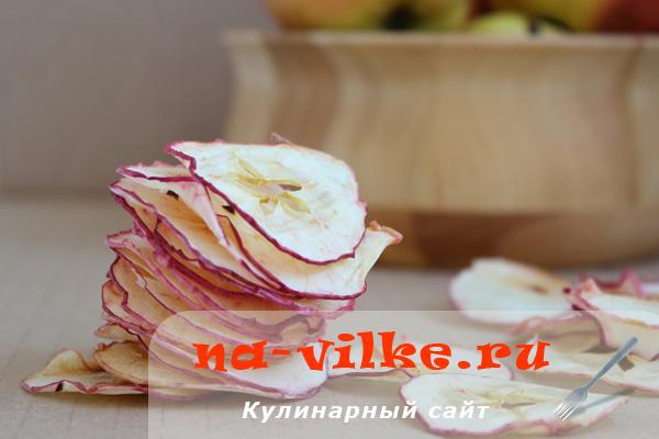 Чипсы из яблок в микроволновке