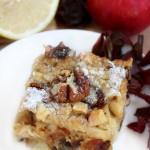 Сладкий пирог с яблоками и финиками