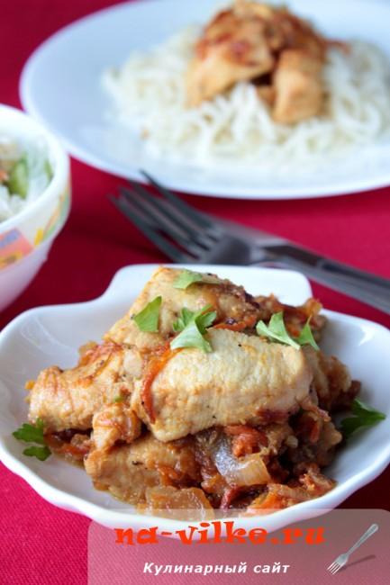 Куриное филе в мультиварке в горчично-соевом соусе