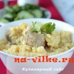 Пшенная каша с мясом в мультиварке – быстро, просто и вкусно