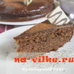 Кусок домашнего шоколадного торта