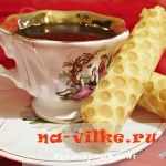 Хрустящие вафельные трубочки с нежной сливочной начинкой