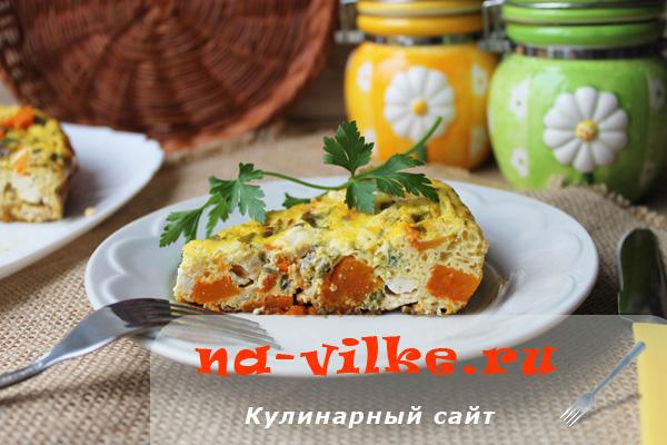Итальянский омлет с овощами и сыром в мультиварке