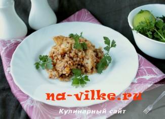 Приготовление гречки с курицей и овощами в мультиварке