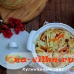 Домашняя квашеная капуста с брусникой