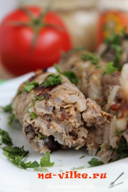 Колбаски из свинины с рисом