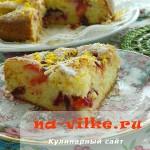 Открытый сливовый пирог быстрого приготовления