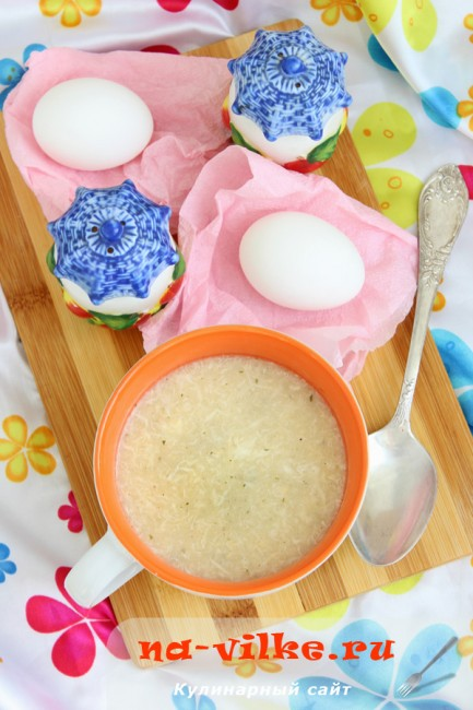 Приготовление яичного супа по мотивам итальянской кухни