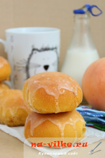 Тыквенные пышки с абрикосовым джемом