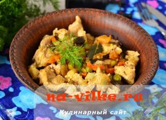 Как приготовить тушеную индейку с овощами в мультиварке