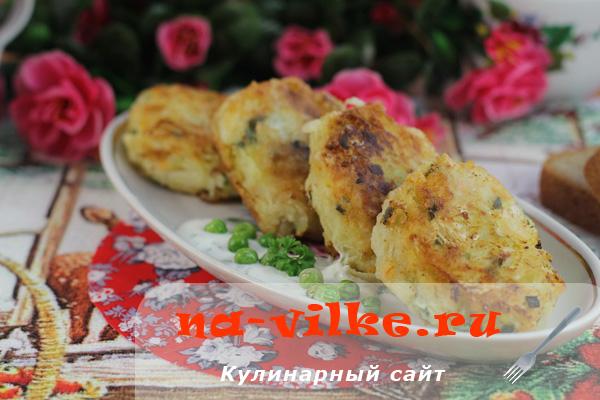 Котлеты из картофеля и квашеной капусты