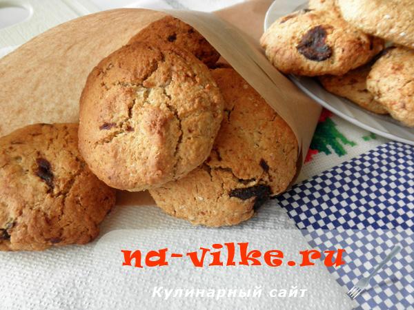 Печенье с творогом и овсяными хлопьями рецепт с пошагово