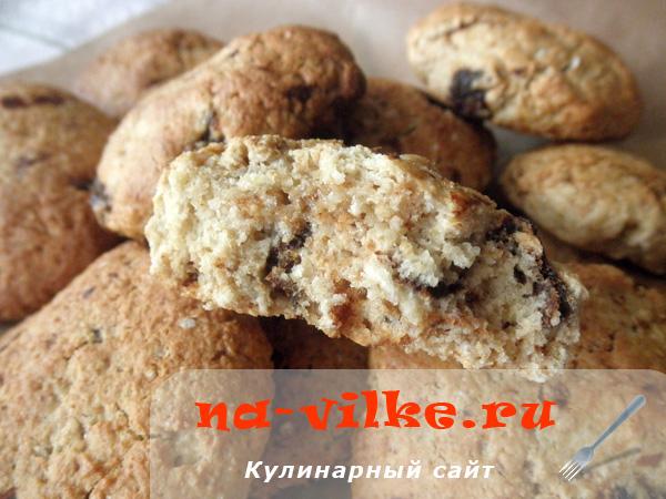 Овсяное печенье на растительном масле с курагой