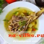 Вкусный домашний суп из индейки с зеленым горошком