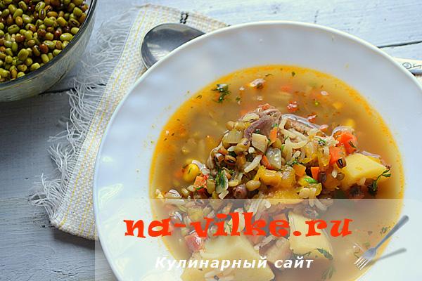 Готовим наваристый суп с машем, рисом и жареной уткой