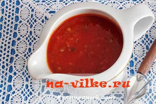 Итальянский томатный соус с корнишонами