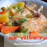Вкусный тушеный кролик с оливками по-итальянски