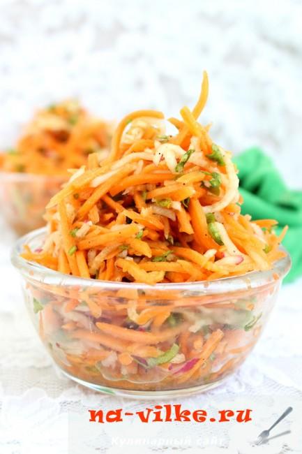 Салат с морковью и редиской