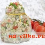 Салат с перловкой и помидорами
