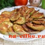 Жарим кабачки кружочками в яйце и панировочных сухарях