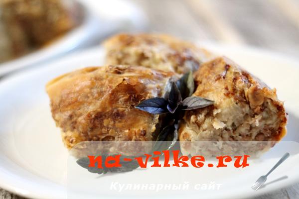 Запекаем вкусный мясной пирог с бараниной по-татарски