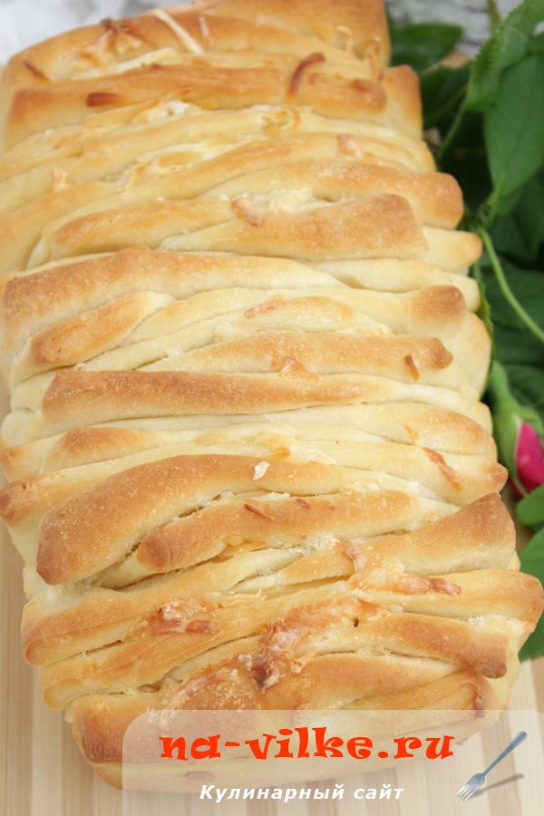 Молочный хлеб «Гармошка» с сыром (Pane al latte «Fisarmonica