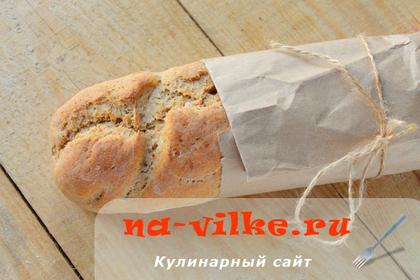 Домашний хлеб из трех видов муки