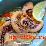 Как вкусно приготовить щупальца кальмара