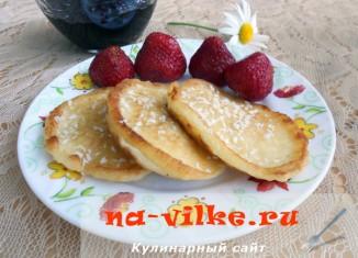 Готовим вкусные оладьи без дрожжей на кефире