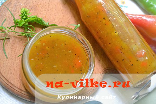 Готовим пикантный соус из алычи и перца к мясу и рыбе