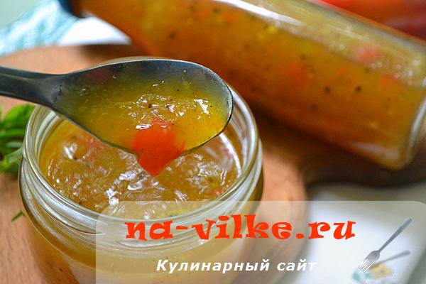 Кисло-сладкий соус из алычи и болгарского перца