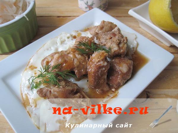 Вкуснейшая тушеная свинина с пикантным соевым соусом