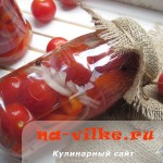 Консервируем на зиму помидоры черри с болгарским перцем