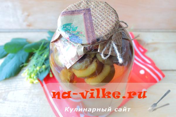 Варим компот из сливы – рецепт на 3-литрровую банку