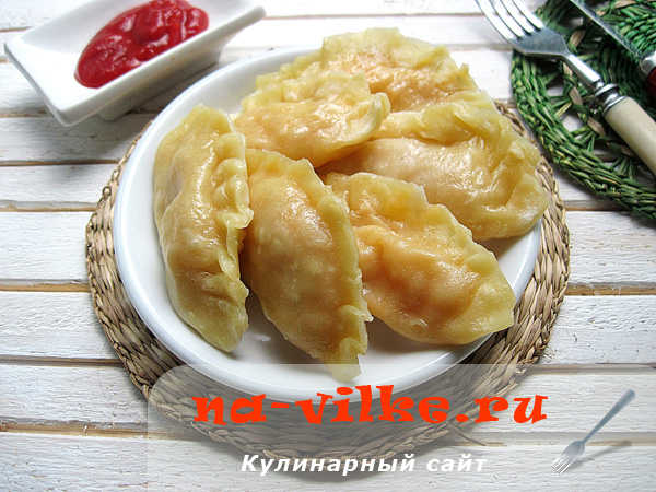 Аппетитные вареники с начинкой из свежей капусты в пароварке