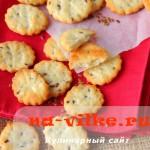 Детское галетное домашнее печенье с семенами льна