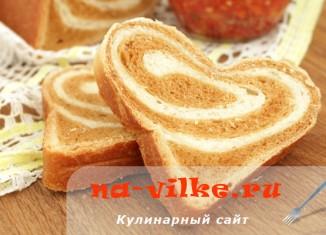 Молочный хлеб с томатом