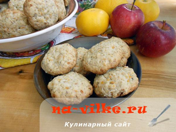 Овсяное печенье с тыквой и грецкими орехами