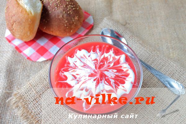Суп-пюре из свеклы