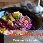 Рецепт свекольного салата с куриной грудкой и апельсинами