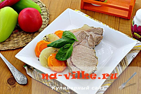 Свинина с овощами запеченная в духовке