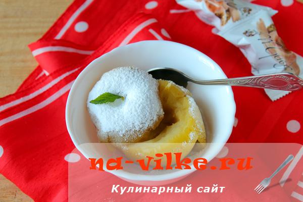 Яблоки запечные с сахаром в мультиварке